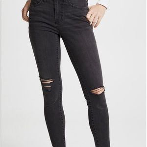 "Madewell 9"" high rise skinny distressed jeans 26S"